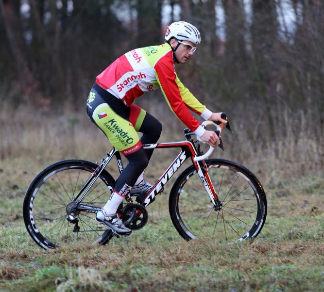 Martin Bína při tréninku na Borku. Foto: Pavel Myška.