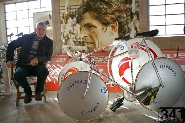 Francesco Moser třicet roků po vytvoření světového rekordu.