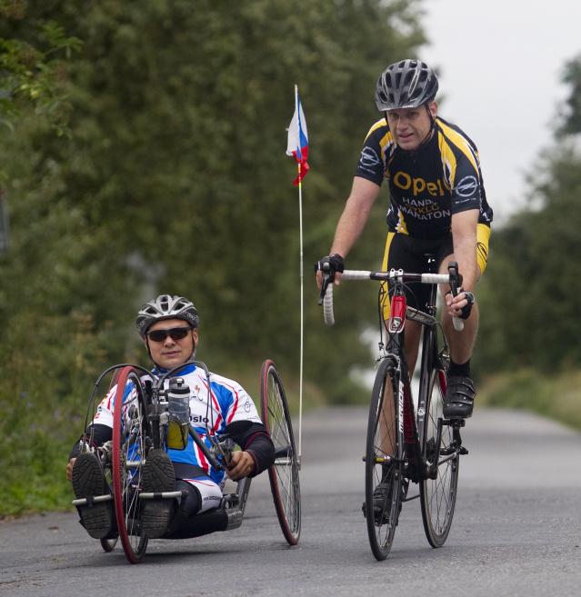 Heřman Volf s Pavlem Šilhou při tréninku