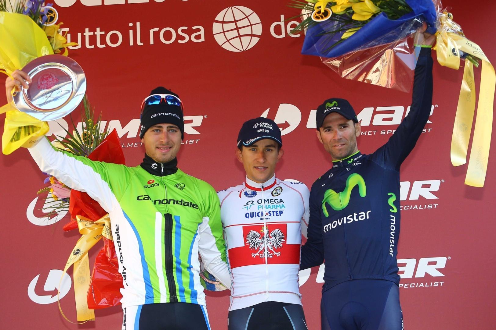 Stupně vítězů na Strade Bianche.