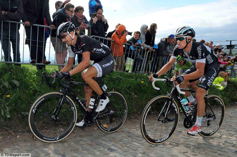 Fabian Cancellara a Zdeněk Štybar.