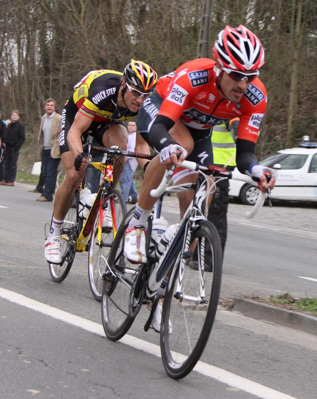 Boonen a Cancellara.