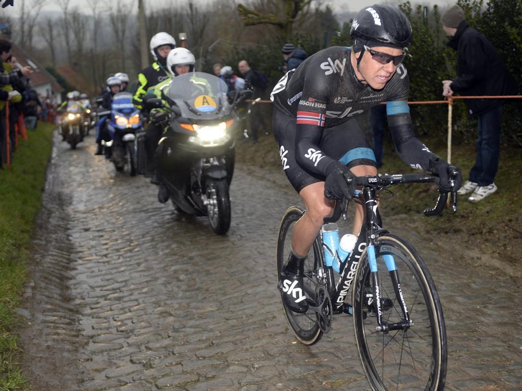 Edvald Boasson Hagen je nejsúspěšnějším cyklistou Teamu Sky v dosavadní pětileté historii britské stáje.