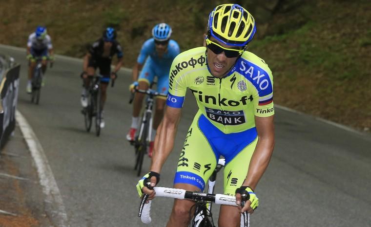 Alberto Contador nastupuje.