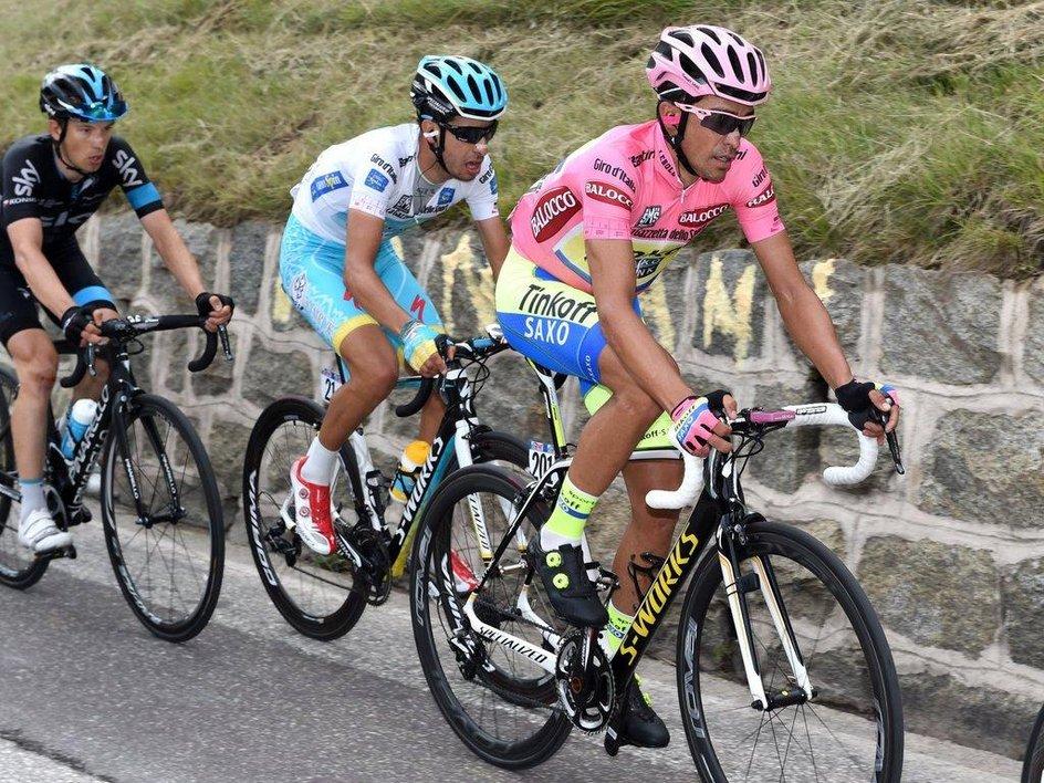 Alberto Contador, Fabio Aru a Leopold König.