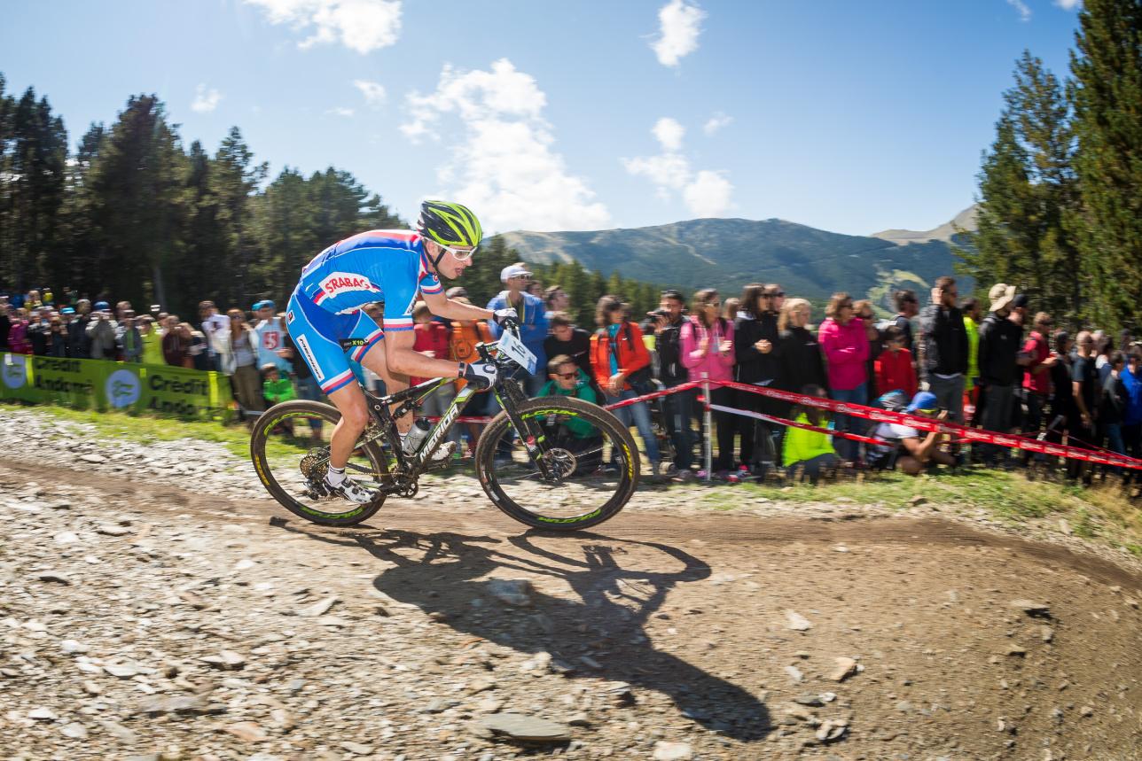 Ondřej Cink na trati v Andoře.
