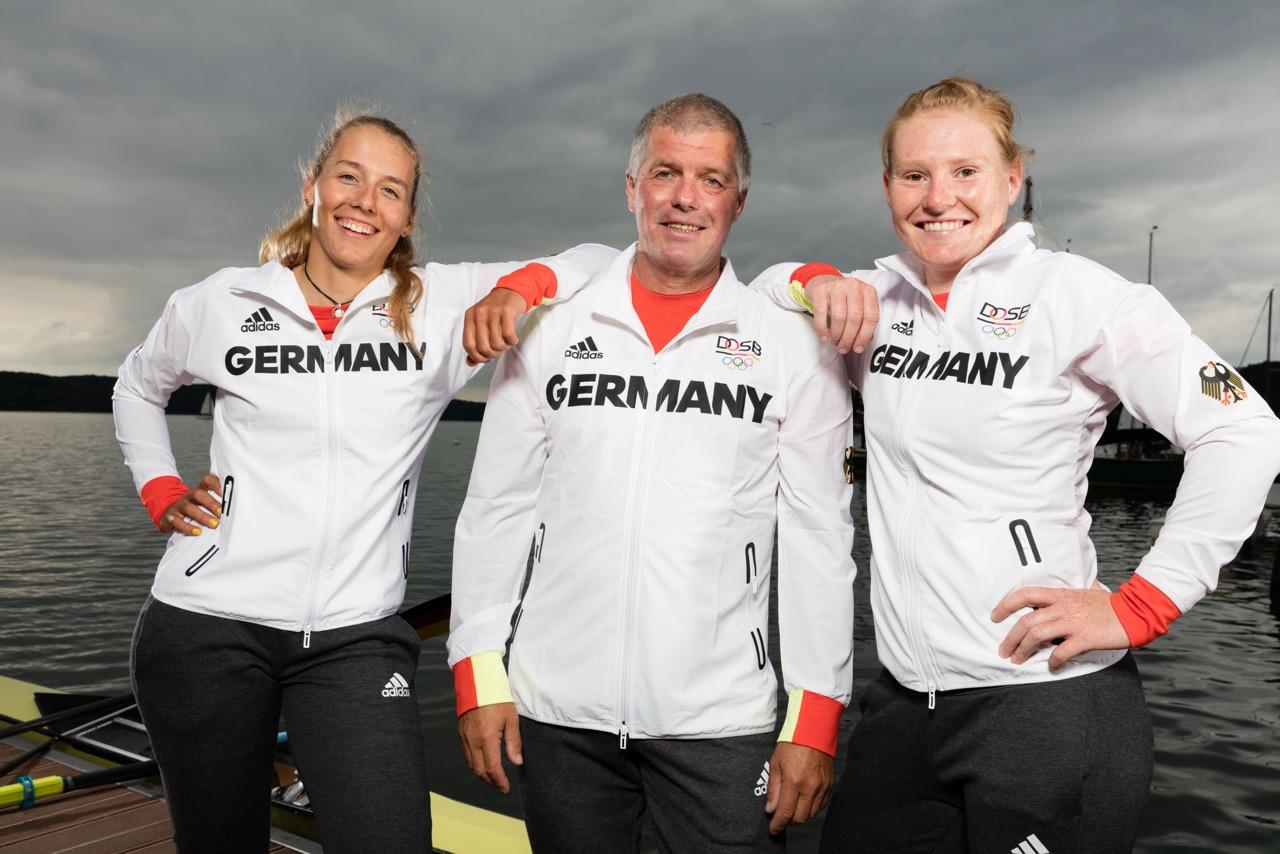 Přemysl Panuška s posádkou německého olympijského dvojskifu