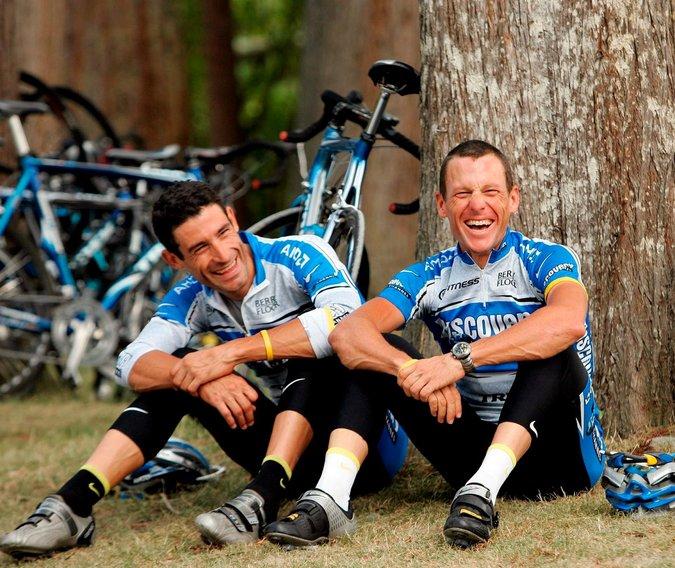 Hincapie a Armstrongem.