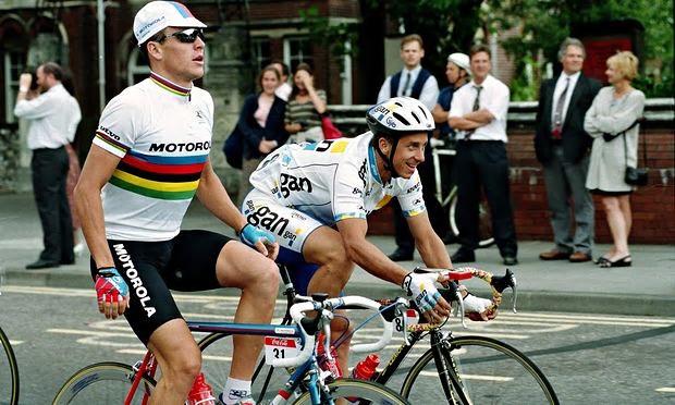 Lance Armstrong a Greg LeMond.