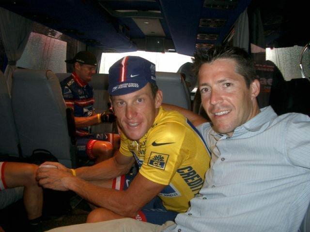 Lance Armstrong a Christian Vande Velde.