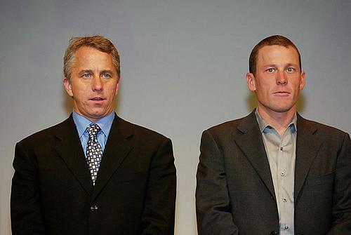 Greg LeMond a Lance Armstrong.