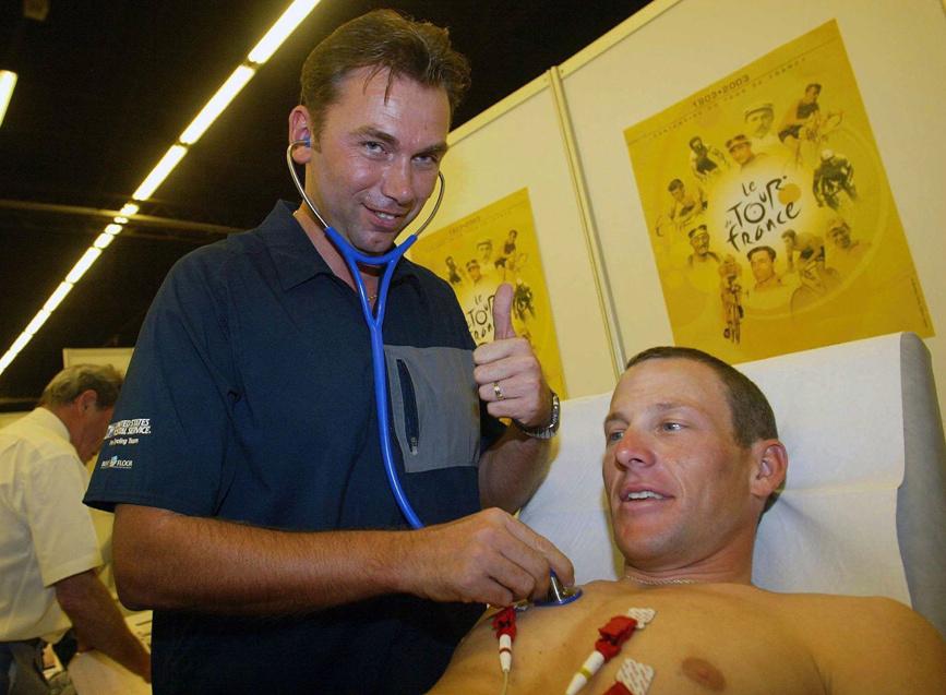 Johan Bruyneel a Lance Armstrong.