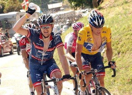 Floyd Landis a Lance Armstrong.