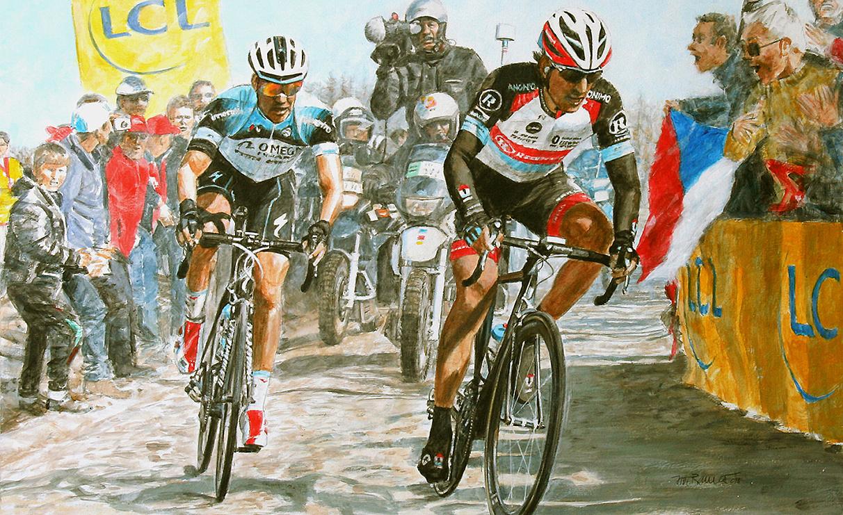 Štybar a Cancellara Roubaix 2013.