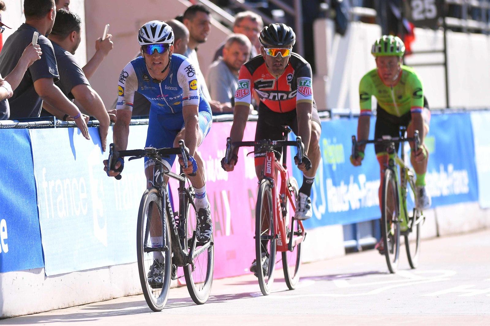 Na velodromu v Roubaix.