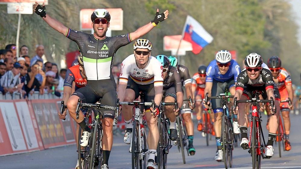 Cavendish při svém vítězství v Dubaji loni v únoru.