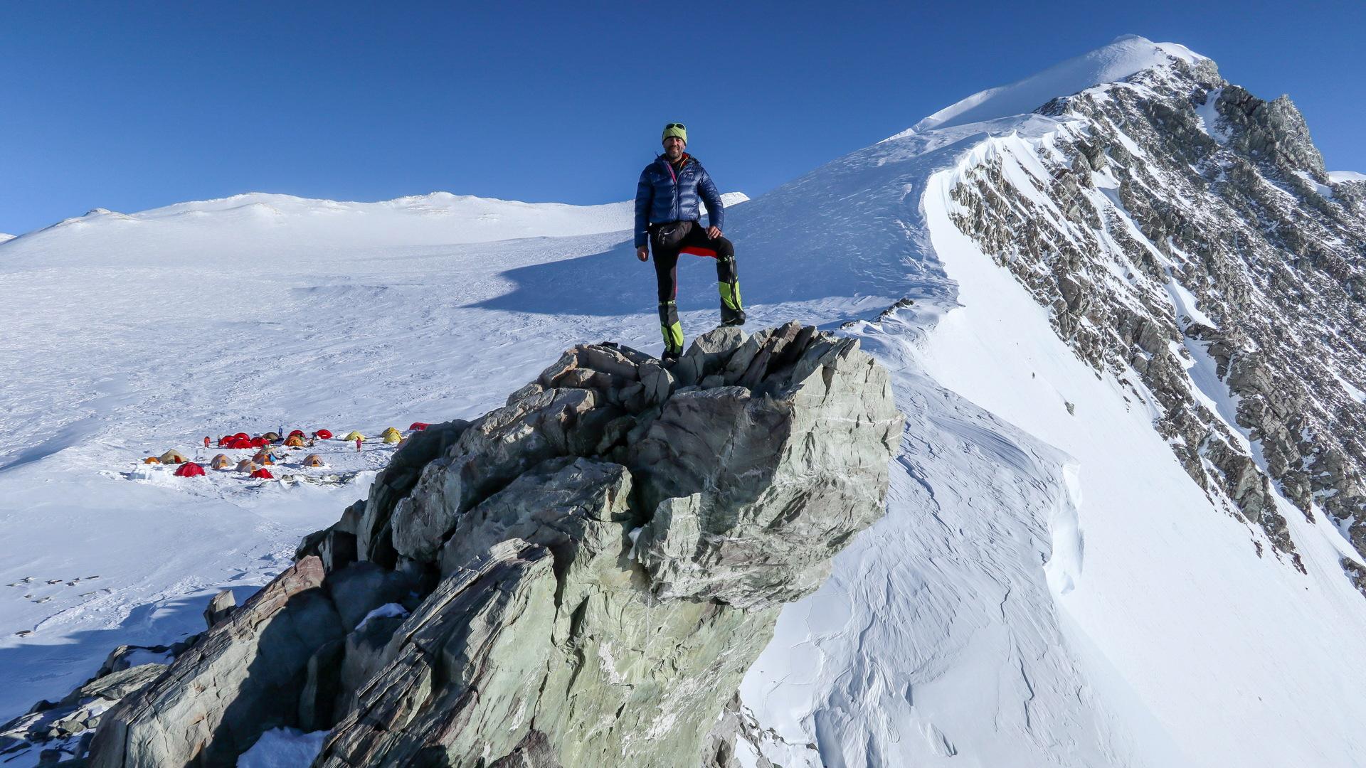 Cesta na vrchol Mount Vinson.